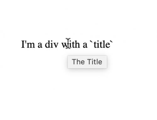 SVG Title vs . HTML Title Feature